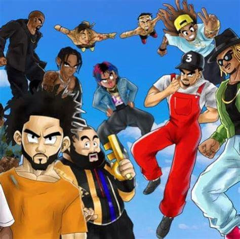 rappers drawn   style  dragon ball  part  art