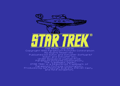Star Trek Commodore 64