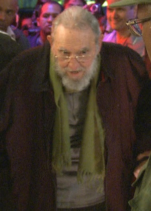 Imagem de vídeo feita em 9.jan.2014 mostra o ex-presidente cubano Fidel Castro em Havana. Foi a primeira aparição do líder em público em meses