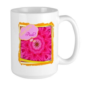 Geaux Wear Pink! Large Mugs