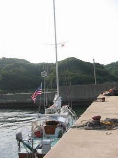 Velella tied alongside in Takeshima