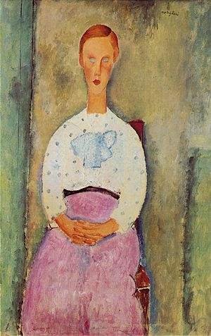 Amedeo Modigliani Jeune fille au corsage a pois