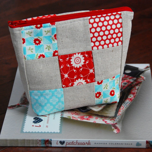 Patchwork Pouch {side a}