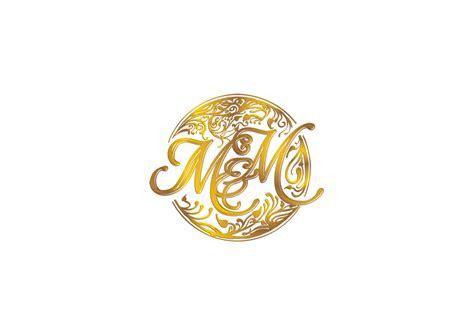 Couple's Initials Wedding Logo   75 Logo Designs for M & M