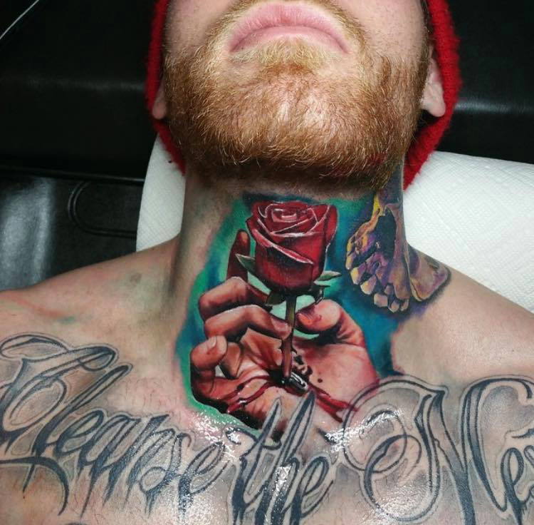 Rose Tattoo On Neck Tattoo Designs Tattoo Pictures