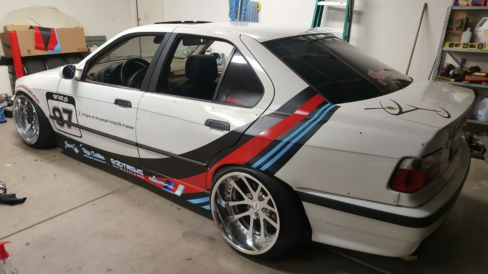 Bmw E36 Sedan 4dr Fr Overfenders Fitment Lab Widebody With Door