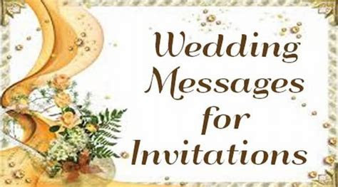 Wedding Messages for Invitations, Wedding Invitation