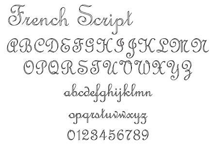 Fancy fonts for Engraving