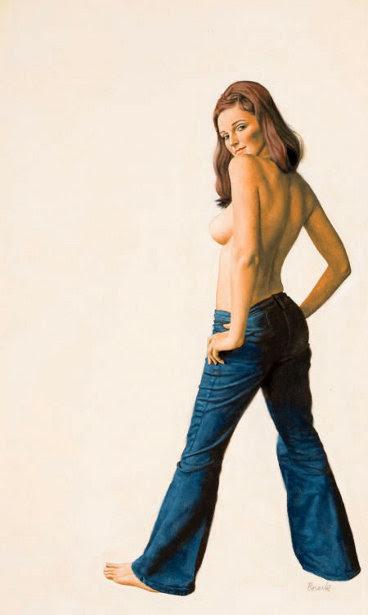 Semi-Nude In Jeans