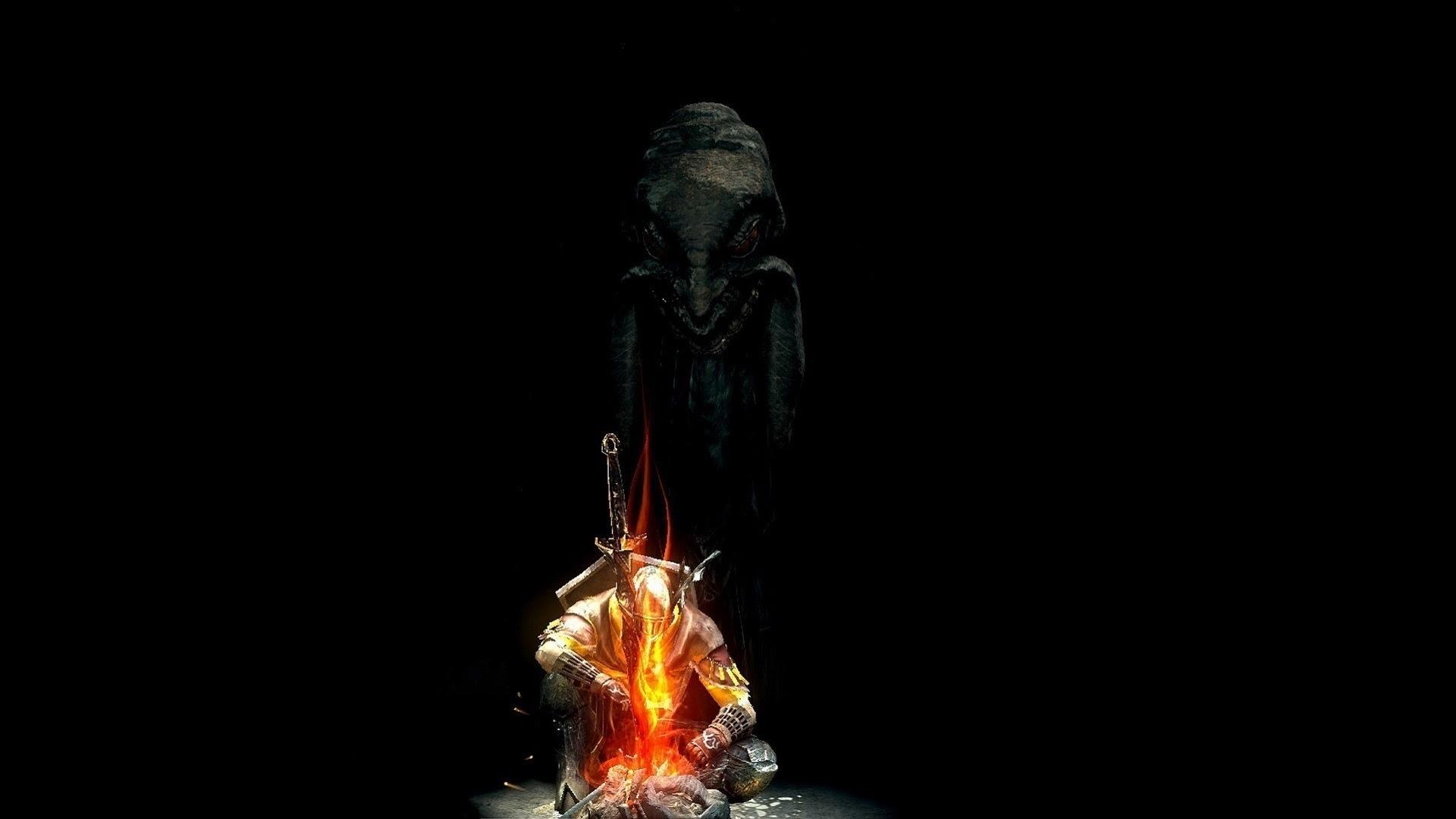 Dark Souls Hd Backgrounds Abyss Bonfire Darksouls