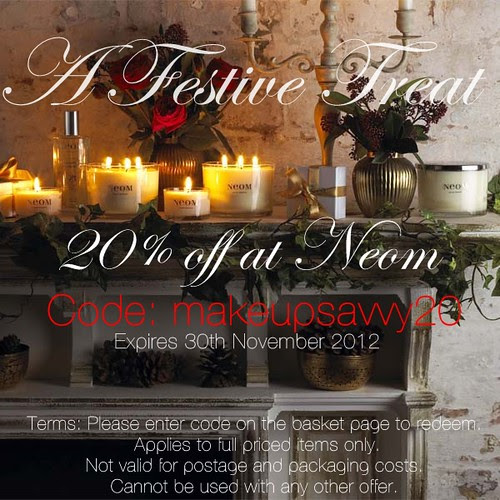 Neom discount code 2012