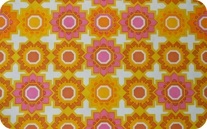 orange, white and pink pattern