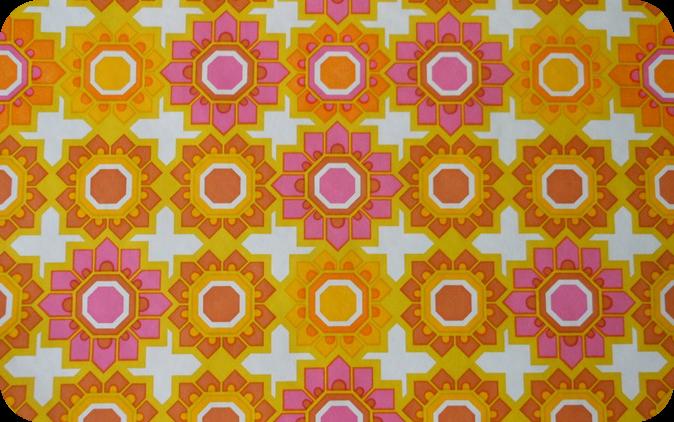 orange, white and pink pattern