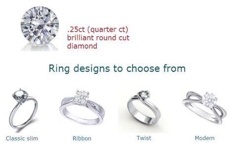 Quarter Carat Engagement Rings Sale   Roselle's Custom