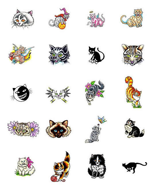 Cat tattoo meanings. Size:550x648