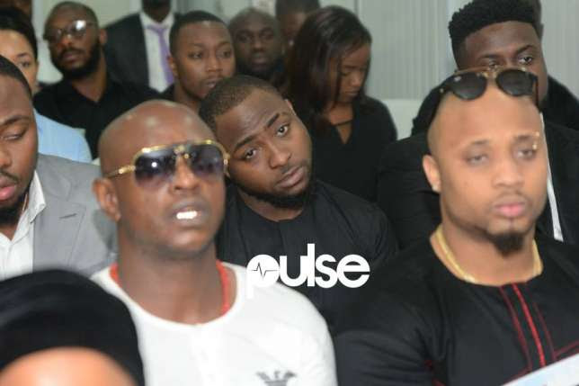 Davido at the Funeral Ceremony of His Late Friend, DJ Olu (Photos)