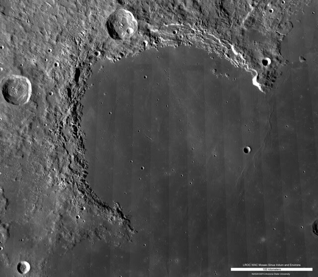 LROC WAC Sinus Iridum Mosaic [NASA/GSFC/Arizona State University]