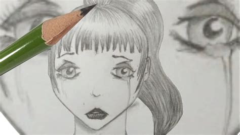 draw anime girl crying  mistakes youtube