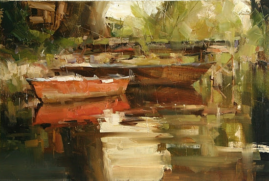 The End of the Day by Tibor Nagy Oil ~ 12 x 18