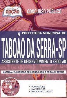 Apostila Concurso Prefeitura de Taboão da Serra (SP) ASSISTENTE DE DESENVOLVIMENTO ESCOLAR