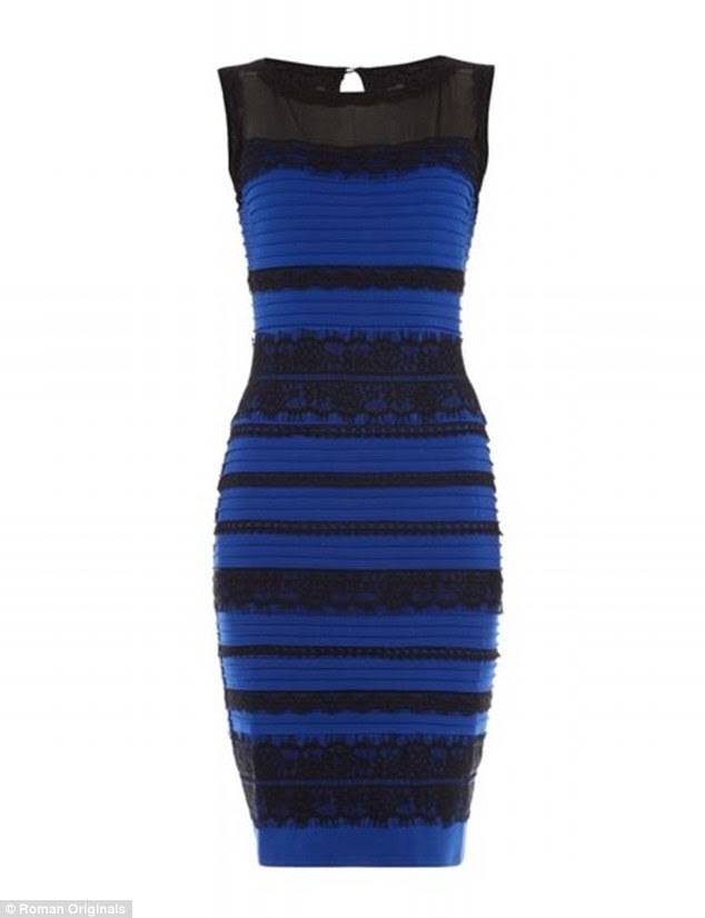 True colors: The dress, made by the company Roman Originals, is in fact blue and black striped