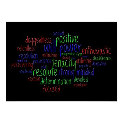 Motivational Words Encouraging a Positive Attitude Print