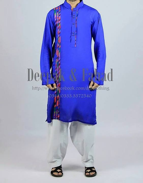 Mens-Boy-New-Summer-Eid-Dress-Kurta-Kamiz-Salwar-Pajama-2013-by-Deepak-Fahad-17