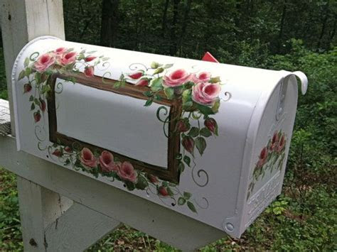 Roses on a Hand Painted Mailbox FREE by DancingBrushes on