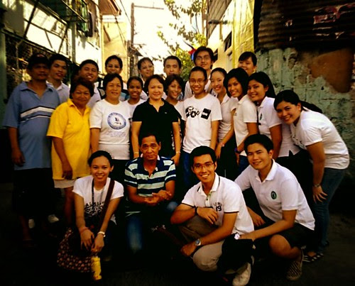 With the Barangay Captain and the Health Workers