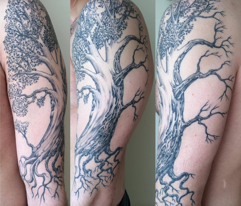 My Half Dead Half Alive Tree By Jeff Cornell At Hidden Hand Tattoo