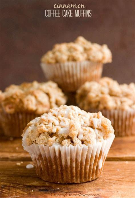Cinnamon Coffee Cake Muffins Recipe   Crunchy Creamy Sweet