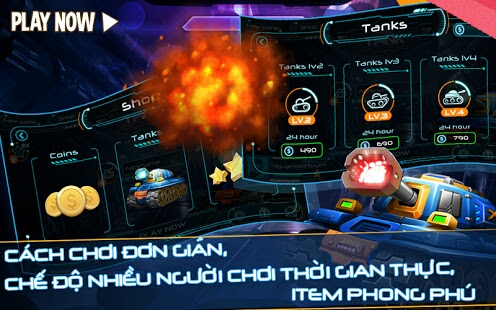 chơi game bắn xe tăng king of tanks
