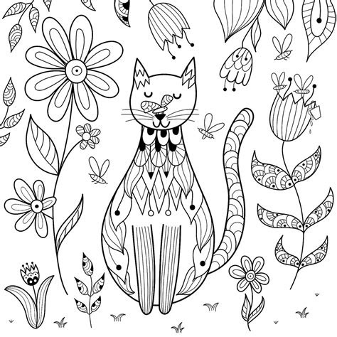 cat coloring pages purr fect printable coloring