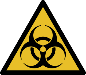 This biohazard sign is a completely convention...