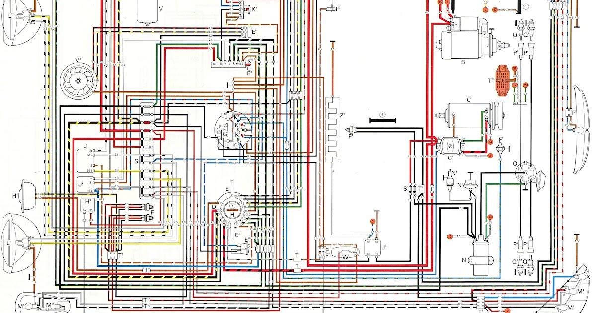 1972 Super Beetle Wiring Diagram