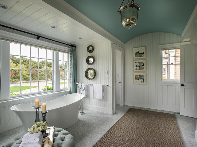 Bathroom with Freestanding Bath #Bathroom #FreestandingBath #HGTV2015DreamHouse