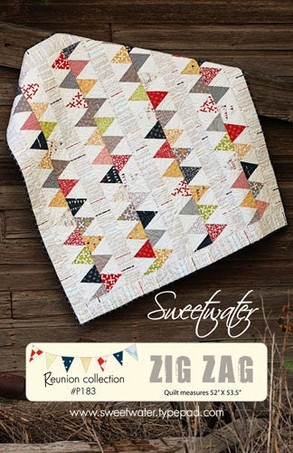 Sweetwater - Zig Zag Quilt Pattern - FREE SHIPPING with any other purchase