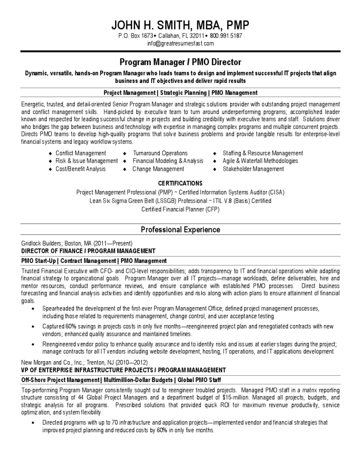 sap project manager resume  the accounting cover letter