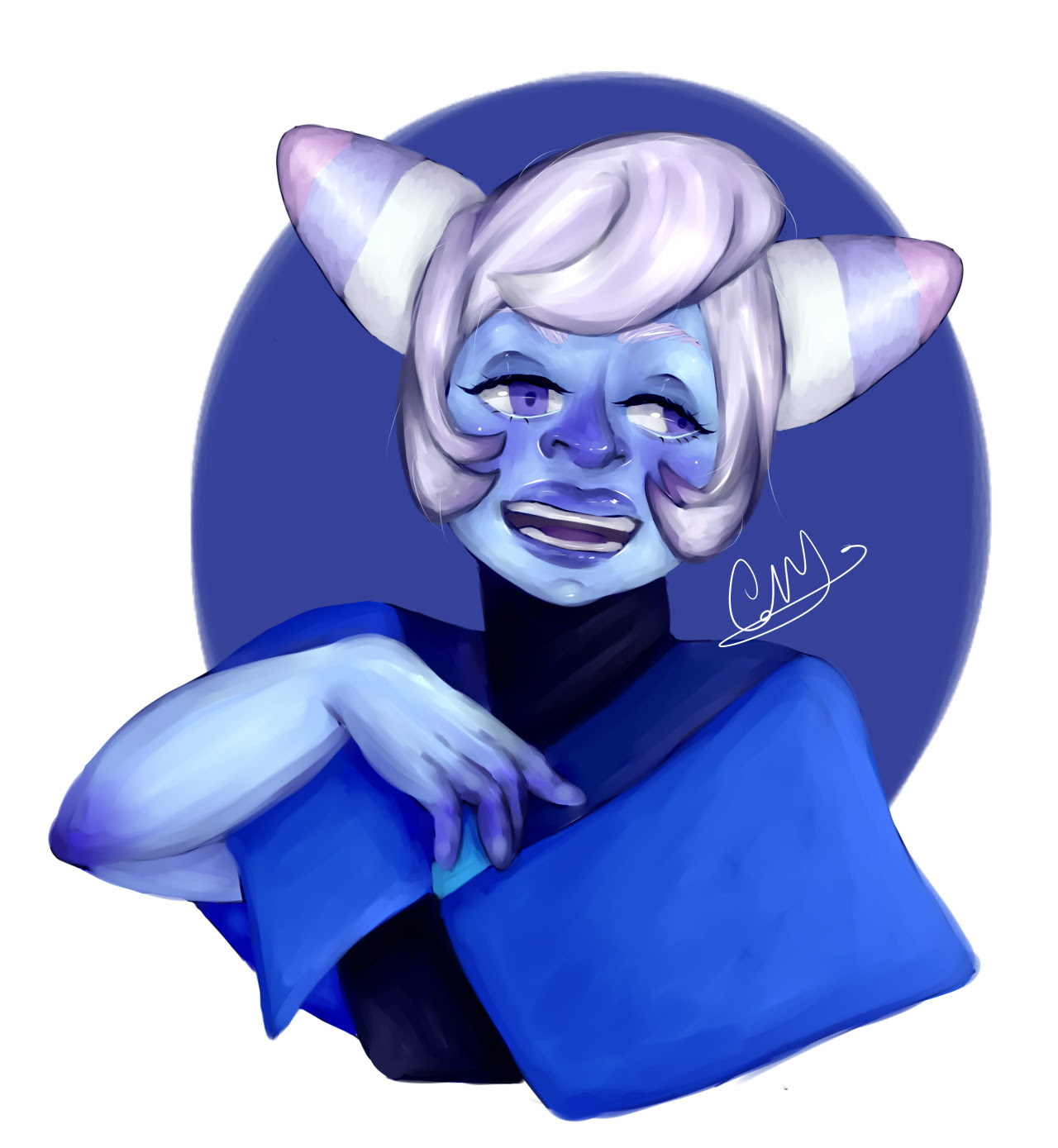 Holly Blue Agate from Steven Universe! Decided to do a little quick drawing of her. I'll update the speedpaint later 😁