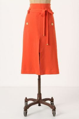 Anthropologie Belted Fresna Skirt