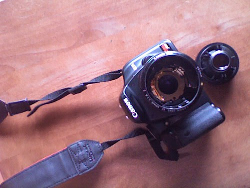 broken lens.