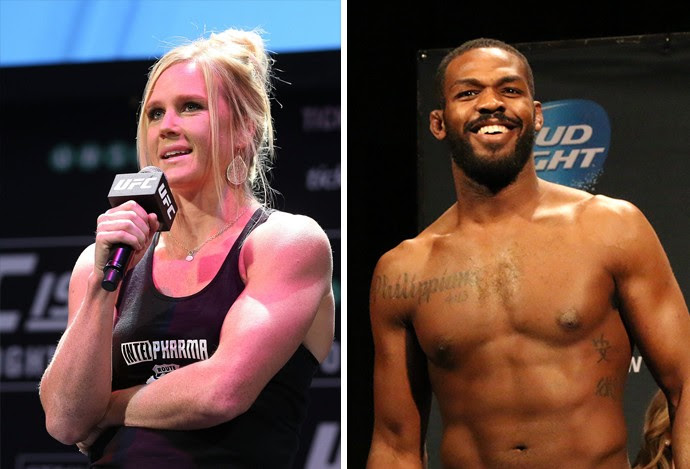 Matéria Holly Holm e Jon Jones  (Foto: Combate.com)