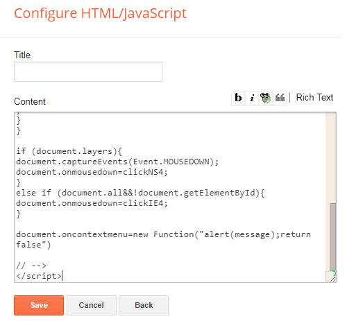 blogger html java script