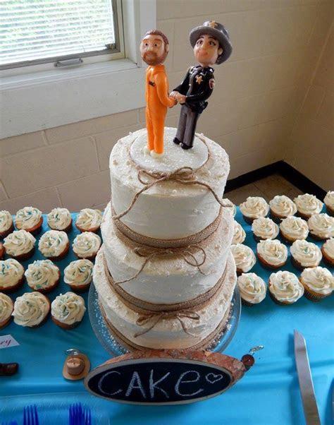 Rustic Police Officer Wedding Cake   CakeCentral.com