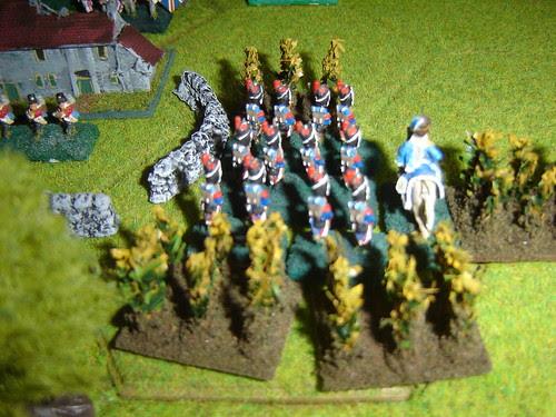 French under Reille advance through Cornfield