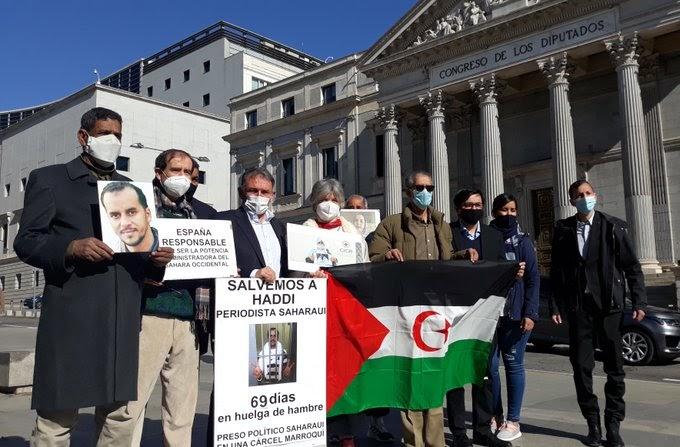 Diputados españoles denuncian en el Congreso la situación del preso político saharaui en huelga de hambre, Mohamed Lamin Haddi.