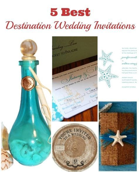 5 Best Destination Wedding Invitations of the Year