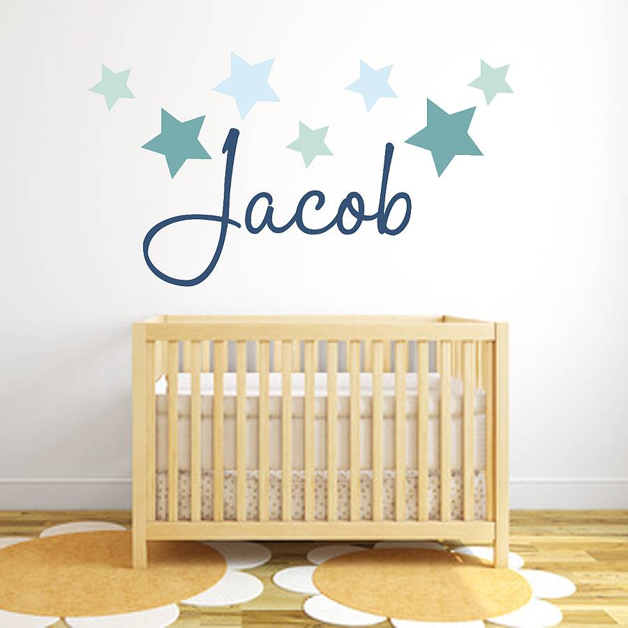star name fabric wall stickers by littleprints  notonthehighstreet.com