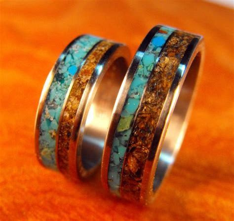 Titanium Rings, Wedding Rings, Turquoise Rings, Tigers Eye