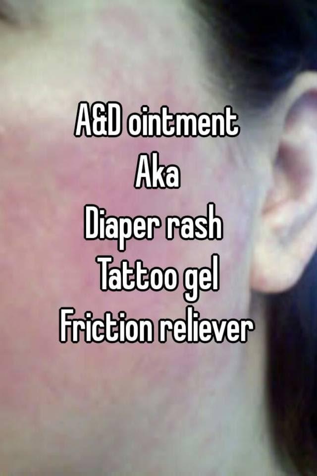 Ad Ointment Aka Diaper Rash Tattoo Gel Friction Reliever